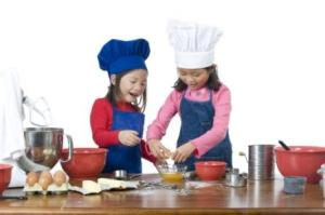 kinderen bakken